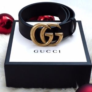 fb767fafaaa ÍNew Gucci Belt Àüthéntíć GG Marmot Gold Double G